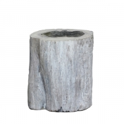 COLORADO LOG SIDETABLE/STOOL