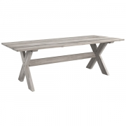 CROSS DININGTABLE LIGHT GREY