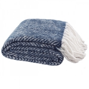 COSY BLUE THROW