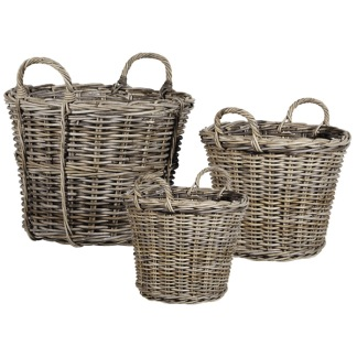 AUTUMN LEAF BASKETS - KUBU GREY