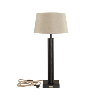 MILAN TABLELAMP BASE BLACK WOOD -