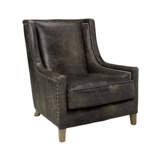 AW44 ARMCHAIR LEATHER FUDGE -