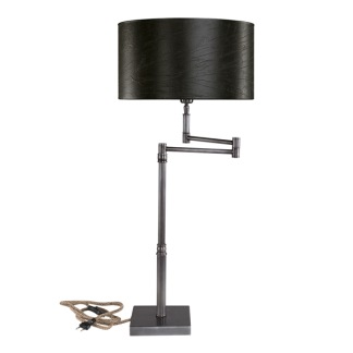 PEWTER SWING TABLELAMP BASE -