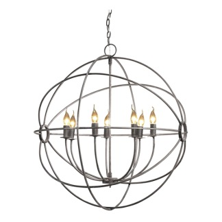 ROME CEILING LAMP STEEL LARGE -