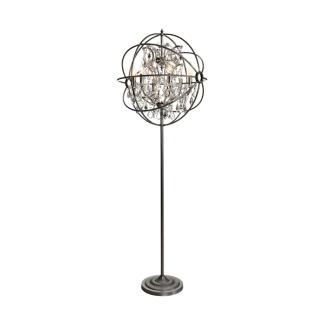 ROME CRYSTAL FLOOR LAMP STEEL -