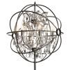 ROME CRYSTAL FLOOR LAMP STEEL