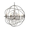 ROME CRYSTAL CEILING LAMP STEEL LARGE