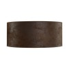 CYLINDER SHADE LARGE - Brown suede