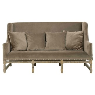 MAYFAIR Sofa Velvet Taupe Brown -