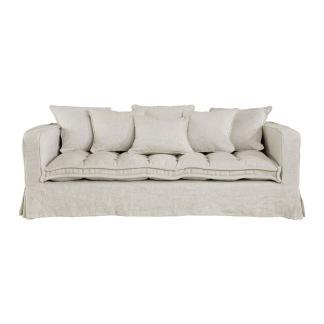 GREENWICH Sofa Linen Sand 3-s -