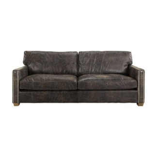 VISCOUNT SOFA LEATHER FUDGE 3-S -