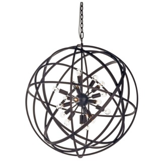 NEST CEILING LAMP BLACK LARGE -