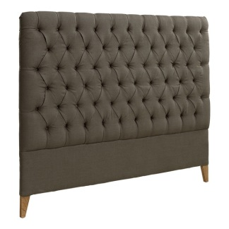 LONDON HEADBOARD LINEN BROWN -