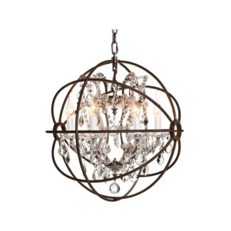 ROME CRYSTAL CEILING ANTIQUE RUST SMALL -