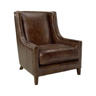 AW44 ARMCHAIR VINTAGE LEATHER CIGAR -