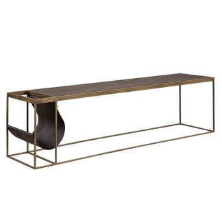 MAGAZINE COPPER COFFETABLE/MEDIA BENCH -