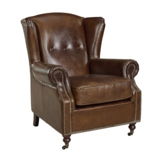 GOSLAR WINGCHAIR VINTAGE LEATHER CIGAR -