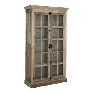 ELMWOOD FRENCH CABINET DOUBLE DOOR GLASS -