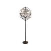 ROME CHANDELIER FLOOR LAMP ANTIQUE RUST - GYRO CHANDELIER FLOOR LAMP ANTIQUE RUST