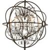 ROME CHANDELIER FLOOR LAMP ANTIQUE RUST