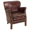PROFESSOR CHAIR - VINTAGE LEATHER CIGAR