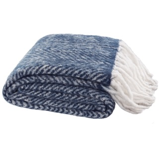 COSY BLUE THROW -