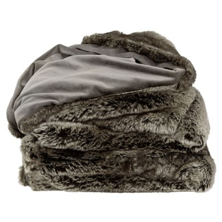 GREY BEAR THROW -