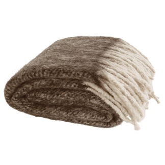 COSY BROWN THROW -