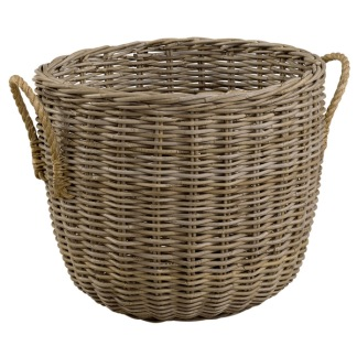 STORAGE WITH HEMP HANDLES BASKET -