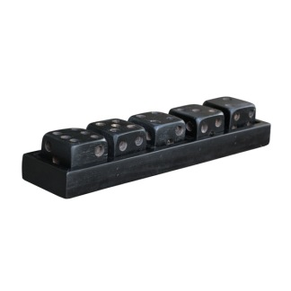 DICE BLACK GAME ON TRAY -