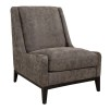 HARMONY LOUNGECHAIR - Grey suede
