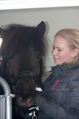 Prima och hennes nya ryttare Linnea