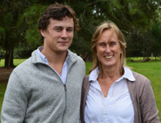 Joaquin Rocco and his mother, Cristina Lindholm