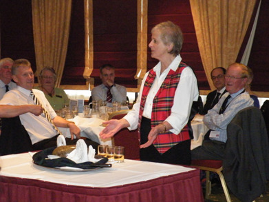 The Haggis being presented