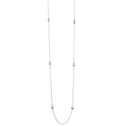 LOVE BEAD LONG NECKLACE - SILVER