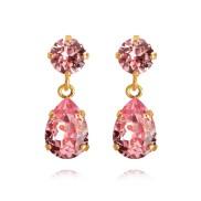 Mini Drop Earrings / Light Rose