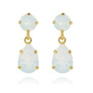 Mini Drop Earrings / White Opal