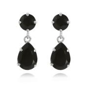 Mini Drop Earrings / Jet
