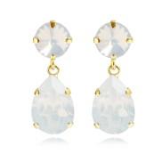 Classic Drop Earrings / White Opal