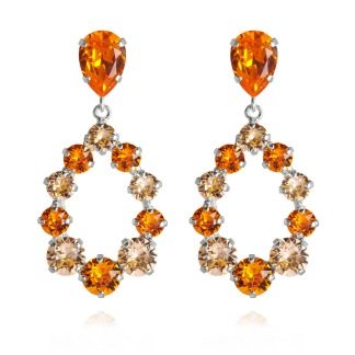 Delia Earrings / Tangarine Light Peach