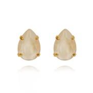 Mini Drop Stud Earrings / Ivory Cream
