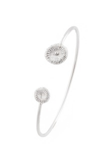 Knappfossil - Fossil Armband Stel Silver