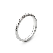 THIN BAND SILVER RING