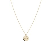 QUEEN COIN NECKLACE BRONZE