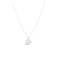 QUEEN COIN NECKLACE SILVER
