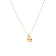 PS23 GOLDEN BRONZE COIN NECKLACE SHORT CHAIN