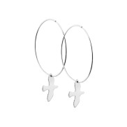 DOVE HOOPS SILVER