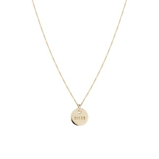 QUEEN COIN NECKLACE BRONZE - QUEEN COIN NECKLACE BRONZE 40CM