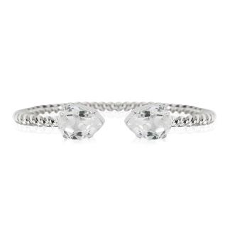 Mini Drop Bracelet - Crystal Silver