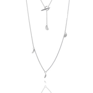 LEAF DROP LONG NECKLACE - LEAF DROP LONG NECKLACE